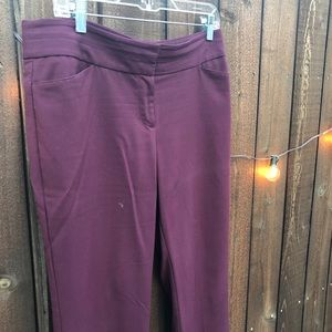 Maroon dress pants, LOFT Outlet, Size 8 Petite